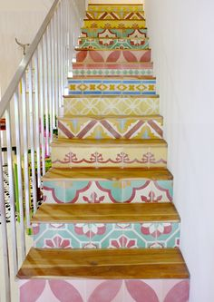 various tile makes the stairs looking so magnificent
