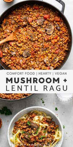 Healthy Low Carb Recipes, Healthy Pastas, Healthy Dinner Recipes, Lentil Recipes, Veggie Recipes, Whole Food Recipes, Crockpot Chicken Healthy, Healthy Crockpot Recipes, Eating Clean