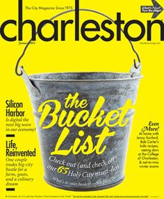 The Charleston, SC Bucket List.  Having lived in Charleston for many years and calling it my hometown, I've done a number of these things.  Some I have wanted to do, and some I didn't know about.  Time to go back home for a couple of weeks! :D