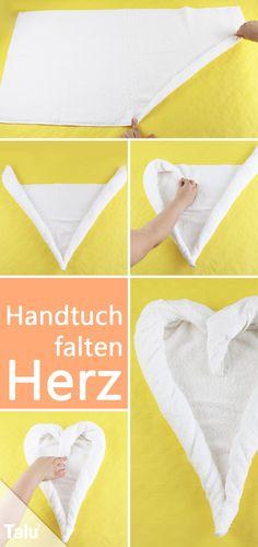 Kostenlose Anleitung - Handtücher falten - Herz - Talu.de