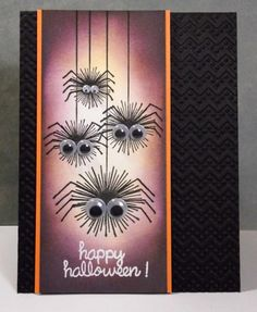 my inky corner: Happy Halloween! {what inspires me: this is a FLOWER stamp! Look at stamps differently! Fröhliches Halloween, Holidays Halloween, Fall Cards, Holiday Cards, Manualidades Halloween, Halloween Scrapbook, Thanksgiving Cards, Greeting Cards Handmade, Handmade Greetings