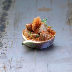 Bouchees aux figues et jambon