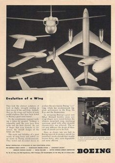 Check out the link for other vintage posters. Evolution of a Wing Boeing Aircraft Print (1948)