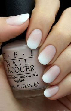 classic ombre french manicure