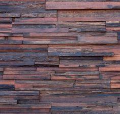 Jagger - houten wandpaneel van oude spoorwegbielzen