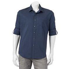 2e2dd24370 Men s Apt. 9® Modern-Fit Brushed Roll-Tab Button-Down Shirt