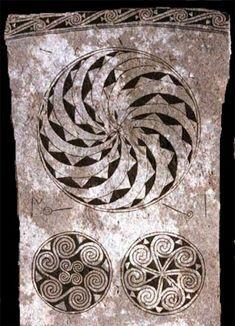 Picture stone depicting Fylfot, 7th Century CE. Gotland, Sweden