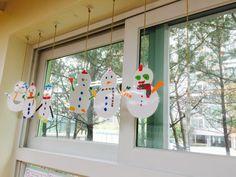 +12월 주제 : 눈사람 모빌 만들기 : 네이버 블로그