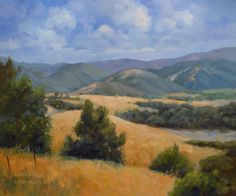 California Landscape Paintings and Plein Air Paintings by California Impressionist Karen Winters Watercolor Landscape, Landscape Paintings, Impressionist Landscape, Original Art, Original Paintings, Oil Paintings, California Wildflowers, Live Oak Trees, Cool Tree Houses