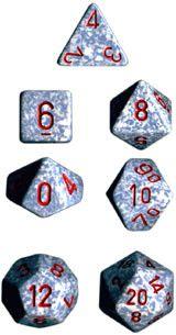 Polyhedral 7-Die Speckled Dice Set - Air