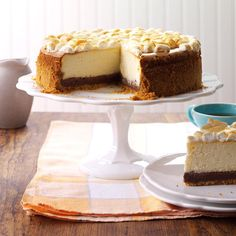 S'mores Cheesecake Recipe -This sweet and decadent cheesecake features graham crackers, chocolate and marshmallows. Enjoy! —Kurt Anderson, Willmar, Minnesota