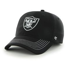 d547d48afbb19 Oakland Raiders Game Time Closer Black 47 Brand Stretch Fit Hat