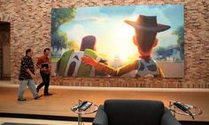 Toy Story 3 painting at PIxar, if I could shrink this down and put it in the Parker's room... I'm pretty sure he'd be the happiest boy ever