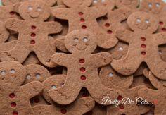Felt Gingerbread Men Christmas Decoration Packs by PrettyDieCuts