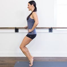 15 Minute Barre Workout inspired by BarreAmped Fire Extreme Sculpt DVD- Fitnessm. - Fitness and Exercises Ballet Barre Workout, Pilates Barre, Barre Workouts, Barre Body, Pilates Moves, Workout Exercises, Fitness Exercises, Cardio, Fitness Tips