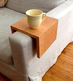 Reclaimed Wood Couch Arm Table by Reclaimed PA on Scoutmob Shoppe
