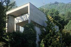 Luigi Snozzi : Maison Kalman à Brione sul Lago Maggiore Luigi Snozzi, Mario Botta, Arch House, Concrete, Mansions, House Styles, Outdoor Decor, Modernism, Wikimedia Commons