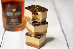Toffee Vodka, Gingerbread, and Rosemary Slices: Super, fudgy gingerbread cookie dough meets a delightful sweet and spiced toffee, ginger, and rosemary cream filling, all topped with...