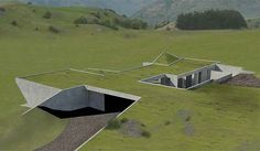 Disadvantages Of Underground Homes Doomsday Bunkers For Luxury Earth Sheltered House Plans Free Berm Home Problems Hillside An Artists Impression - Large Underground Bunkers For Baldwin Obryan Sheltered Underground Building, Underground Living, Underground Homes, Underground Bunker Plans, Underground Shelter, Earth Sheltered Homes, Sheltered Housing, Green Architecture, Landscape Architecture