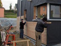 Cladding house with larch wood, cladding, facade, Siberian larch - Haus - Fachadas