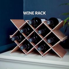 Little Idea ~ Wine Rack How about a small DIY project that can be done in an afternoon? ~ Wine Rack ~How about a small DIY project that can be done in an afternoon? Pallet Wine Rack Diy, Pallet Shelves Diy, Wood Wine Racks, Wine Rack Wall, Wine Wall, Wine Rack Inspiration, Wine Rack Design, Wine Rack Plans, Wine Rack Cabinet