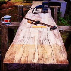 Live edge headboard DIY