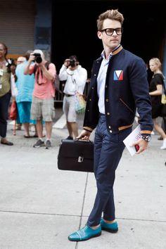 Brad Goreski—Louis Vuitton street style.