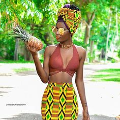 skirt african american african print dashiki african style afropunk afrocentric black girls killin it dope curvy glasses top cute gold African Attire, African Wear, African Women, African Dress, African Style, African Outfits, African Inspired Fashion, African Print Fashion, African Prints