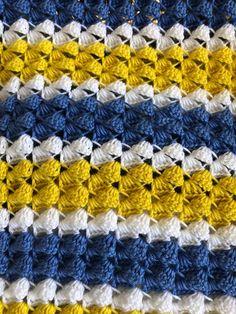 Striped Crochet Blanket, Crochet Baby Blanket Free Pattern, Blue Blanket, Afghan Blanket, Caron Simply Soft, Warm Blankets, Afghans, Montana, Crocheting