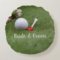 Golf Wedding Invitation Cards and Party Supplies - Thaninee Media Modern Wedding Favors, Golf Wedding, Wedding Cards, Wedding Gifts, Postcard Wedding Invitation, Bridal Shower Invitations, Groomsmen Invitation, Bachelorette Gifts, Round Pillow