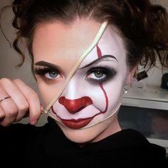 Pennywise inside! By @courts.makeup Follow us @crazy.makeups for more... . Use #crazymakeups to get featured . . #wunderbrow #crushcosmetics #bhcosmetics #loreal #maybelline #rimmellondon #katvond #katvondbeauty #australis #australiscosmetics #jeffreestarcosmetics #jeffreestar #lashedco #pennywise #pennywisemakeup #halloween #halloweenmakeup #zip #zipmakeup #creativemakeup #inspiredmakeup #sfx #sfxmakeup