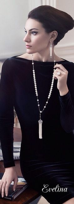 Pearl Tassel Long Strand Necklace   Classic Gatsby