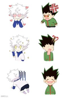 Killua and Gon || Killugon  ~ Hunter X Hunter || OMG IS THIS A REFERENCE TO MYSTIC MESSENGER!? I MEAN, THESE ARE THE EMOJIS THAT SEVEN AND YOOSUNG USE! ❤
