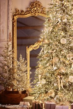 12 Trees of Christmas- French Christmas Tree - French Country Cottage