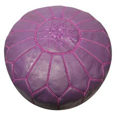 Leather Pouf Purple now featured on Fab. $185