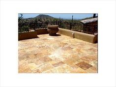 Travertine patio pavers