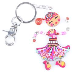 Newest Red Acrylic Marvel Doll Key Chain For Keys Women Girl Decorative Keychain Charm Pendant $5.99 => Save up to 60% and Free Shipping => Order Now! #fashion #woman #shop #diy www.ajewelry.net/...