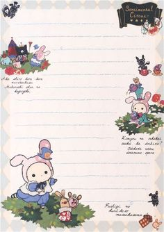 light blue cream pattern Sentimental Circus Note Pad - Memo Pads - Stationery - kawaii shop modeS4u