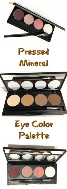 Pressed Mineral Eye Color Palette - Natural Makeup - Gluten Free Vegan Eye Shadow