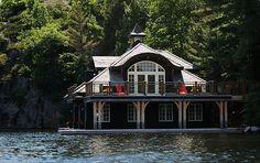 Dark Blue Siding Boat House Siding Door Pinterest