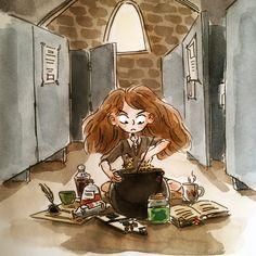 Harry Potter inktobers, hermione granger!