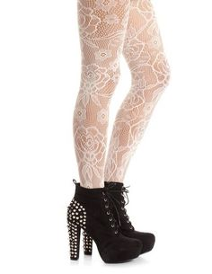 Daisy Blossom Patterned Tight: Charlotte Russe