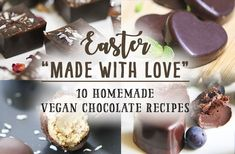 Easter is coming right up and I've heard lots of people getting excited about sharing gifts, especially of the chocolate sort! The good news is that, despite all the 'less than healthy&… Easter Chocolate, Chocolate Muffins, Homemade Chocolate, Vegan Chocolate, Chocolate Recipes, Delicious Vegan Recipes, Raw Food Recipes, Dessert Recipes, Cooking Recipes
