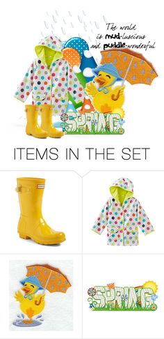"""""""Rain Boots For Spring"""" by majezy ❤ liked on Polyvore featuring art"""