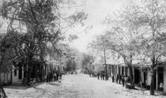 California History - Calaveras County - Angels Camp - Main Street - 1860s