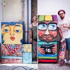 Electricity boxes get a new life @Agitágueda  Artists: Costah tattoo & art e Bug Bolito Photo: Marylin Marques www.agitagueda.com #agitagueda #agueda #AgitÁgueda2016  #agitaguedaartfestival  #streetart #festival #urbanart #umbrellaskyproject