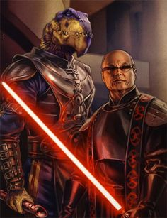 Jerec and Desann, both Dark Jedi who desired the power of the Valley of the Jedi for their own ends. Star Wars Sith, Star Wars Rpg, Clone Wars, Star Wars Characters Pictures, Star Wars Images, Fantasy Characters, Darth Bane, Star Wars Species, Galactic Heroes