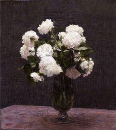 henri fantin latour flowers | White Roses Prev Next