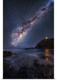 Lincoln Harrison Poster Print Wall Art Print entitled Starscape at Night