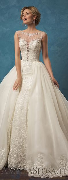 Amelia Sposa 2017 Wedding Dress / http://www.himisspuff.com/top-100-wedding-dresses-2017-from-top-designers/14/
